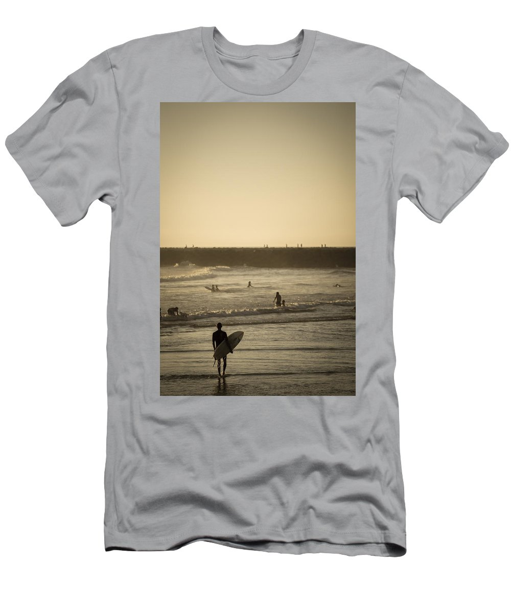 Beach Men's T-Shirt (Athletic Fit) featuring the photograph The Boys Of Summer by Peter Tellone