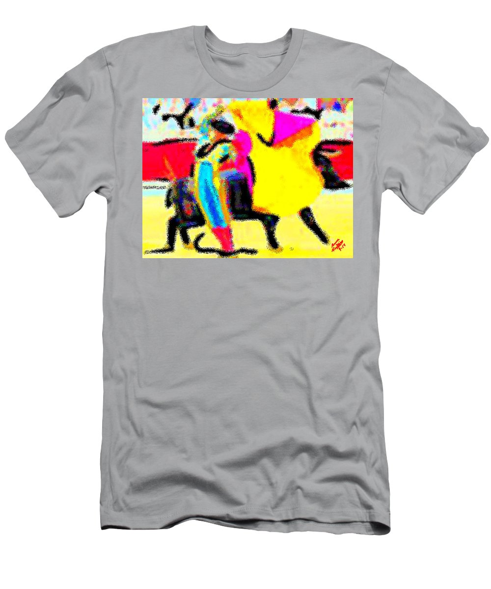 Ole Men's T-Shirt (Athletic Fit) featuring the painting The Brilliance In Bullfighting by Bruce Nutting