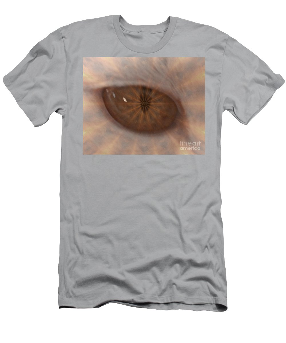 Digital Art Men's T-Shirt (Athletic Fit) featuring the photograph The Cat Eye by Donna Brown