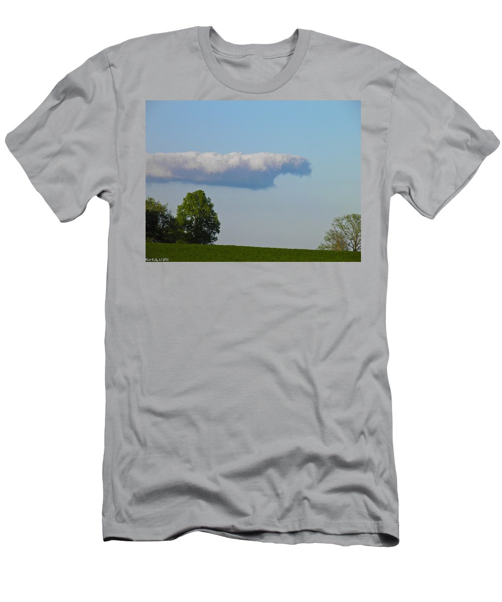 Cloud Men's T-Shirt (Athletic Fit) featuring the photograph The Cloud by Nick Kirby