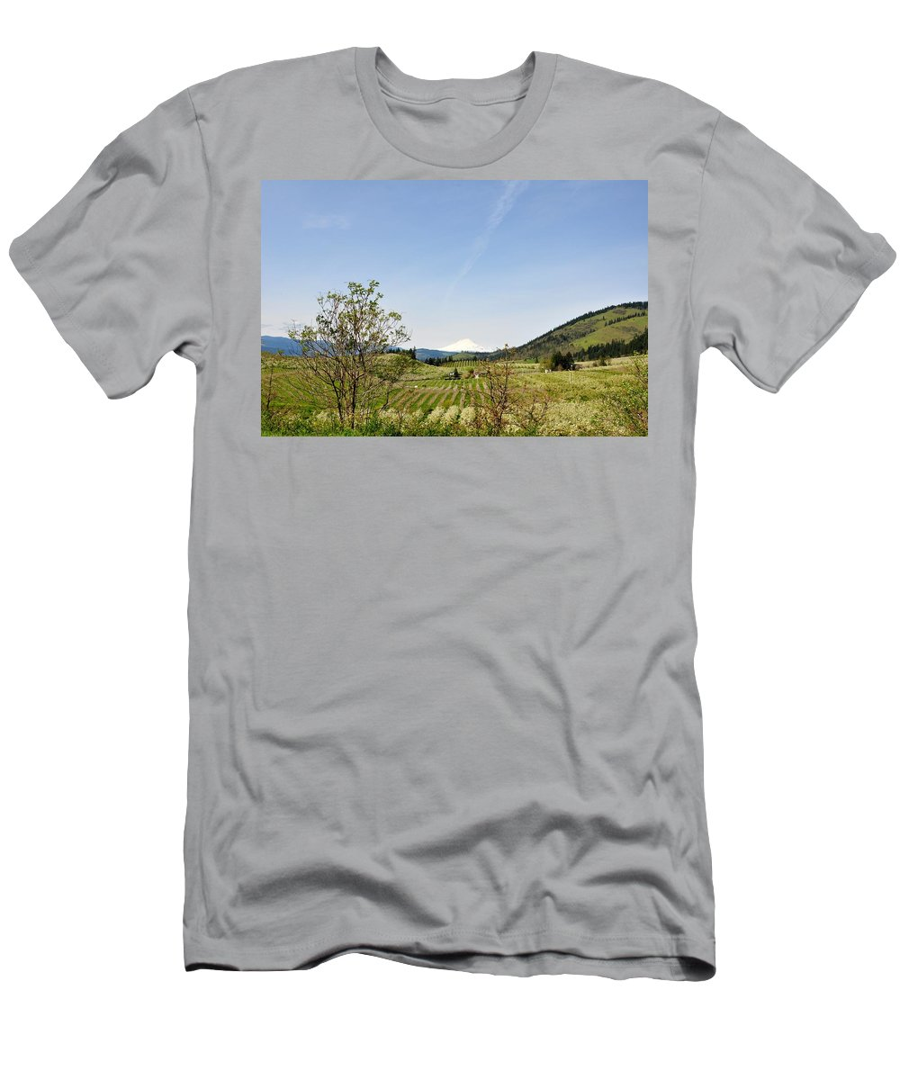 Mount Hood Men's T-Shirt (Athletic Fit) featuring the photograph The Fruits Of Mount Hood by Image Takers Photography LLC - Laura Morgan and Carol Haddon