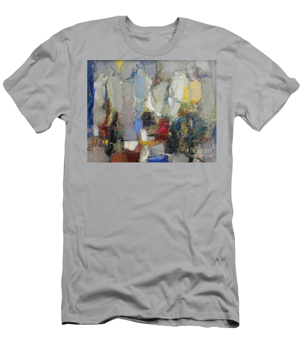 Abstract Men's T-Shirt (Athletic Fit) featuring the painting The Garden Of Eden by Grigor Malinov