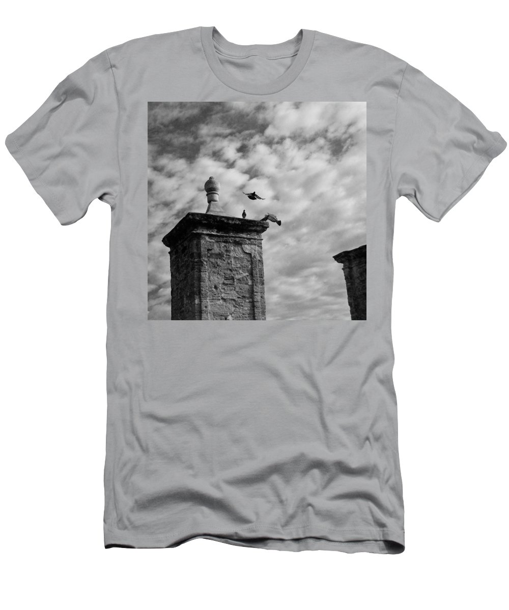Stone Men's T-Shirt (Athletic Fit) featuring the photograph The Gate At Castillo by Beverly Stapleton
