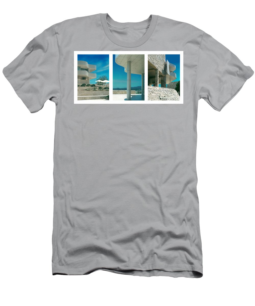Abstract Men's T-Shirt (Athletic Fit) featuring the photograph The Getty Triptych by Steve Karol