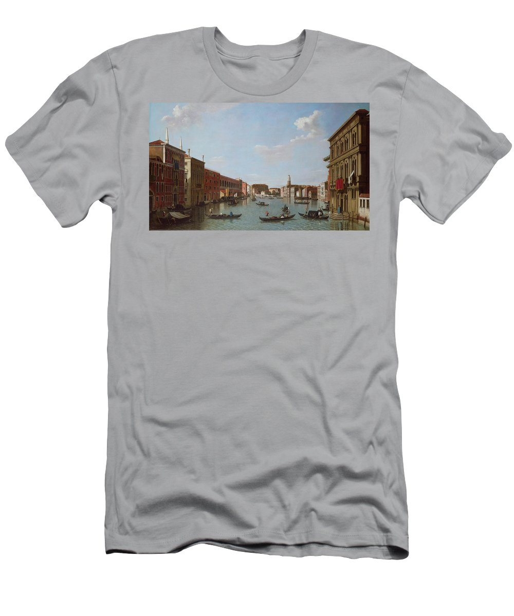 Architecture Men's T-Shirt (Athletic Fit) featuring the photograph The Grand Canal And San Geremia, Venice, 18th Century by William James