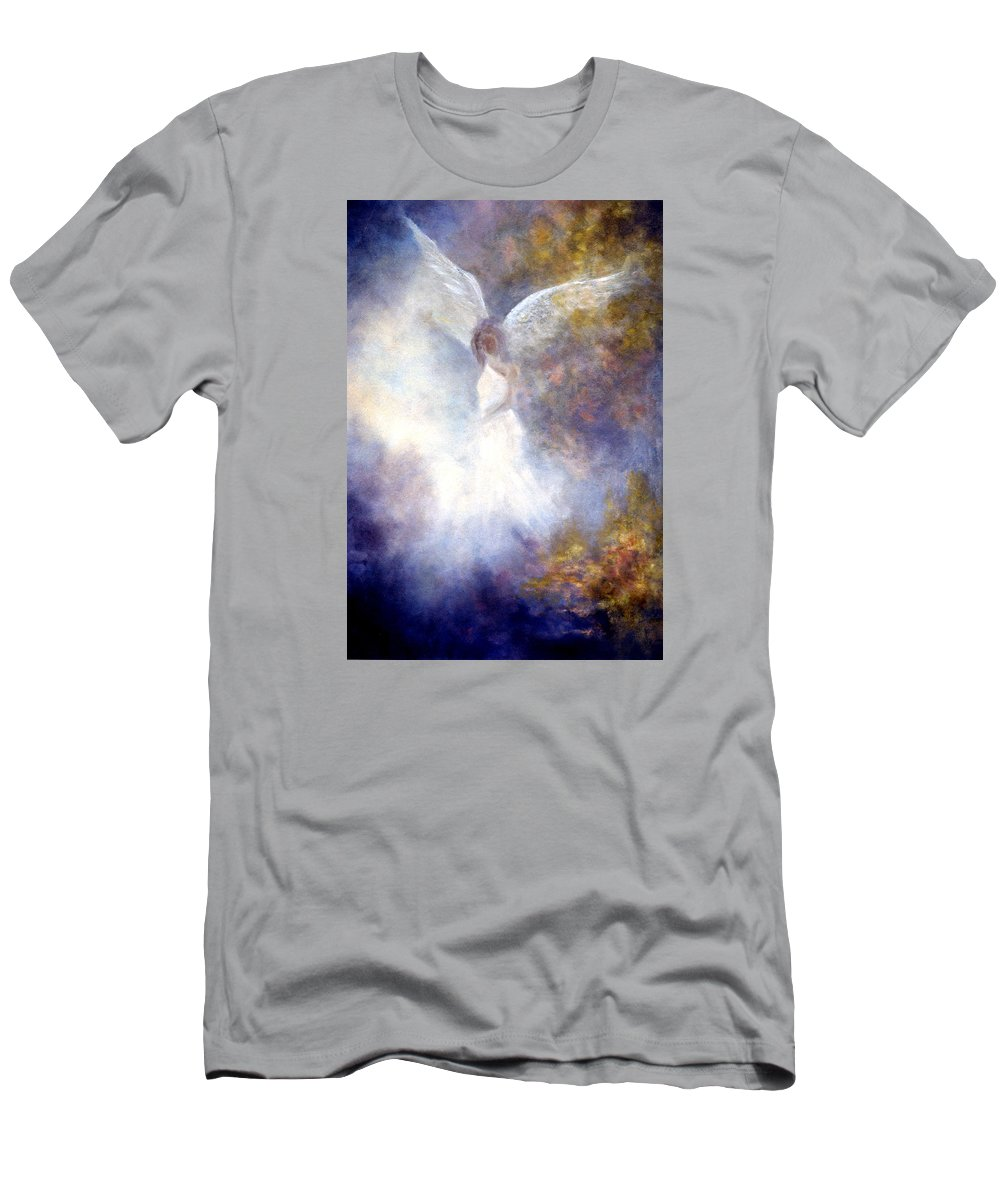 Angel Men's T-Shirt (Athletic Fit) featuring the painting The Guardian by Marina Petro