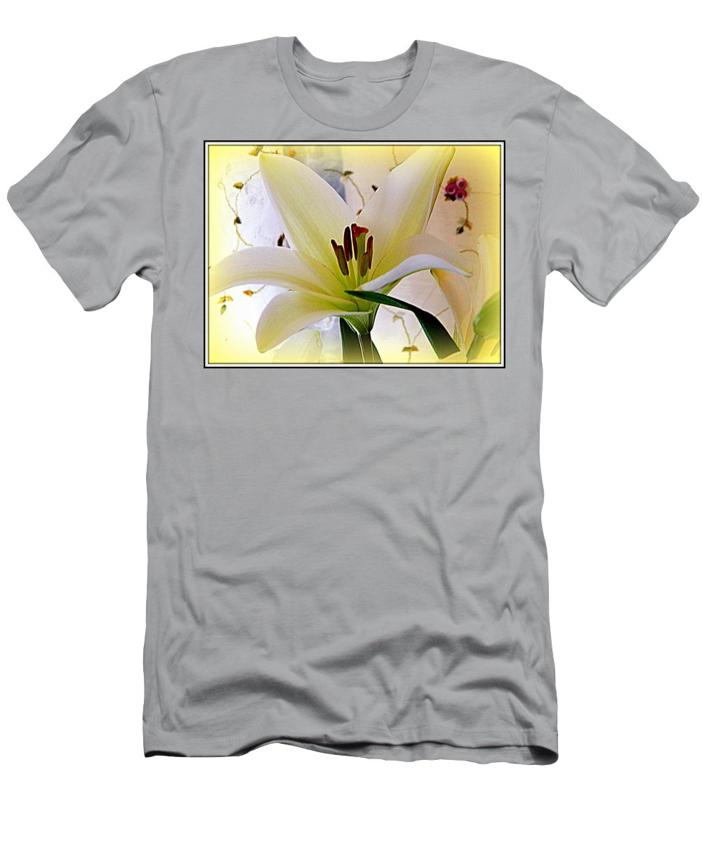 Bouquet Men's T-Shirt (Athletic Fit) featuring the photograph The Lily by Kathy Barney