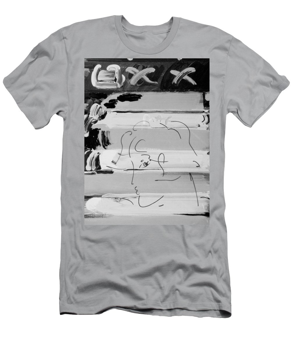Modern Men's T-Shirt (Athletic Fit) featuring the photograph The Max Face In Black And White by Rob Hans