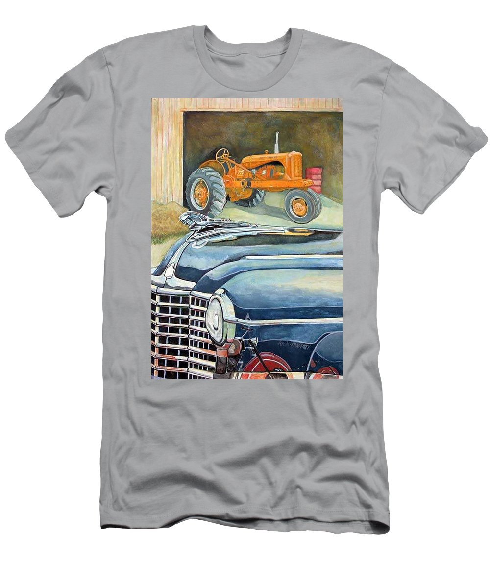 Rick Huotari Men's T-Shirt (Athletic Fit) featuring the painting The Old Farm by Rick Huotari