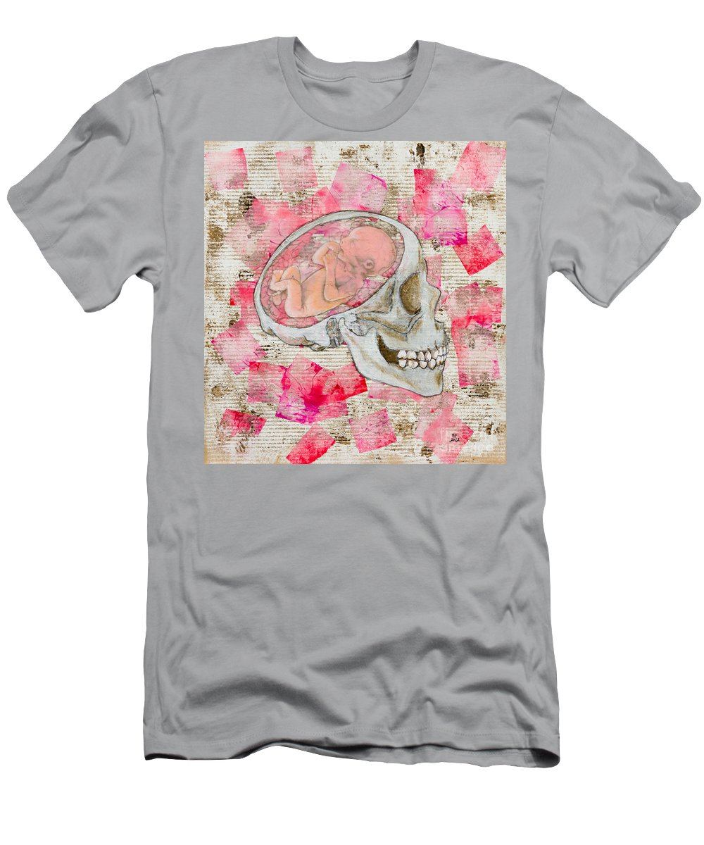Men's T-Shirt (Athletic Fit) featuring the painting The Origin Of War by Stefanie Forck