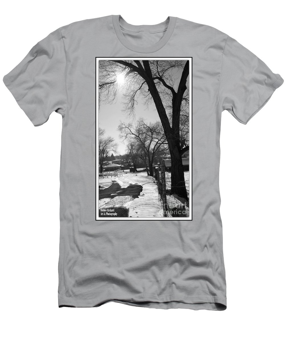 Acrylic Prints Men's T-Shirt (Athletic Fit) featuring the photograph The Pathway by Bobbee Rickard