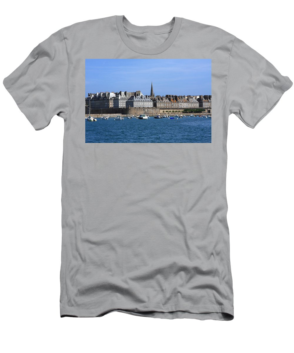 Port Men's T-Shirt (Athletic Fit) featuring the photograph The Port Of St Malo France by Aidan Moran
