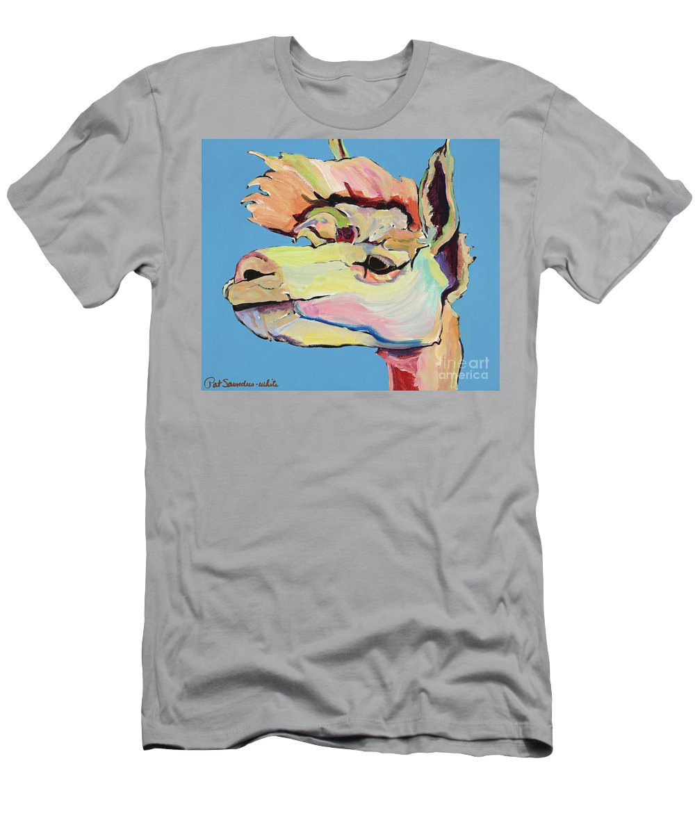 Pat Saunders-white T-Shirt featuring the painting The Sentinel by Pat Saunders-White