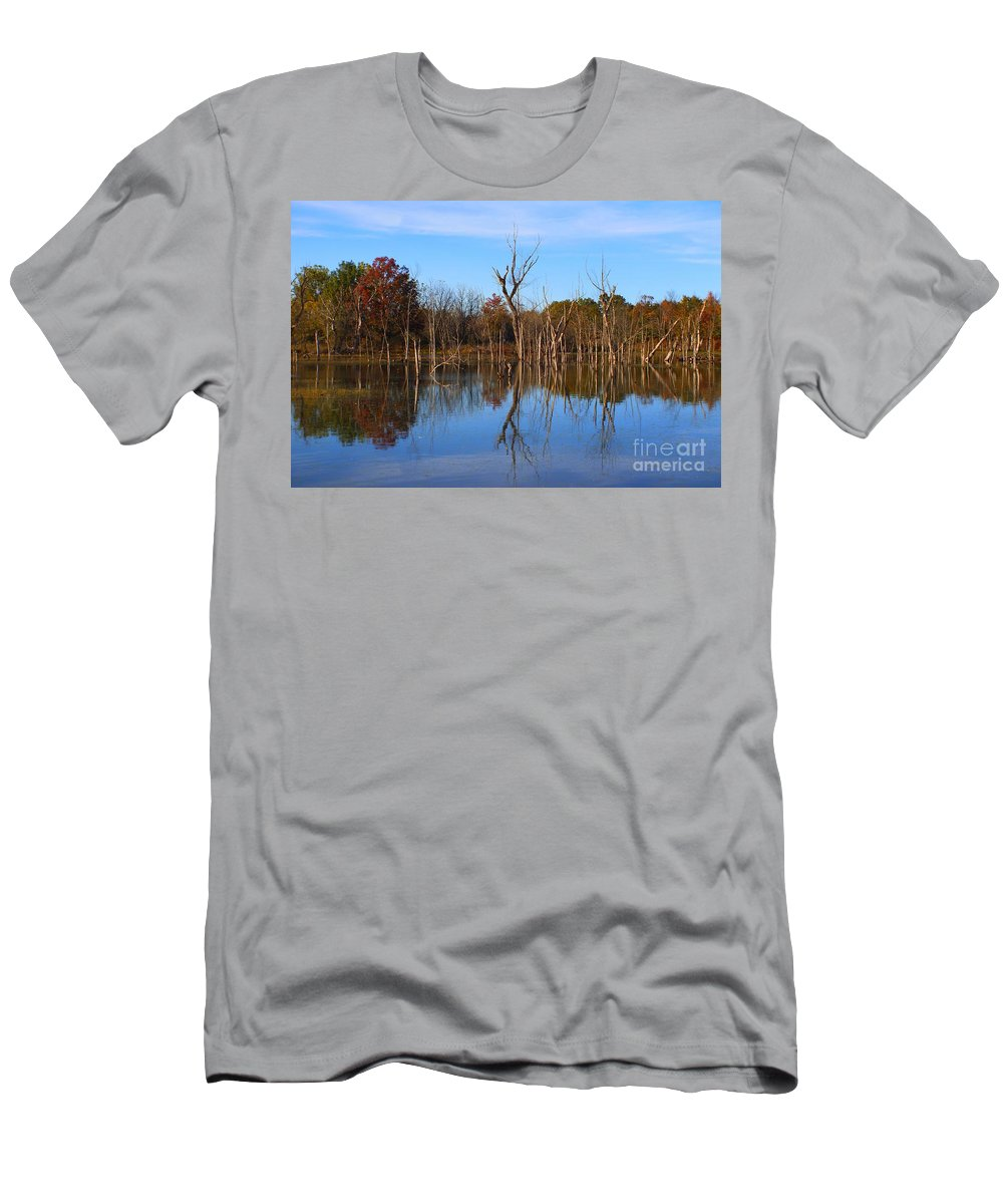 Men's T-Shirt (Athletic Fit) featuring the photograph The Silence Of Fancher Davidge by Chet B Simpson
