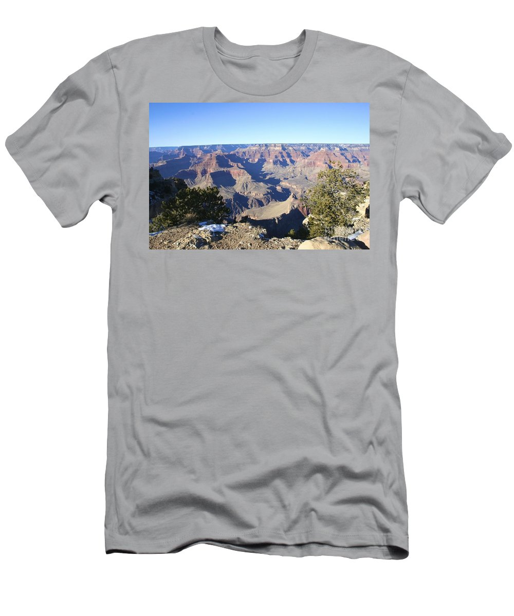 South Men's T-Shirt (Athletic Fit) featuring the photograph The South Rim Of The Grand Canyon by Christy Gendalia