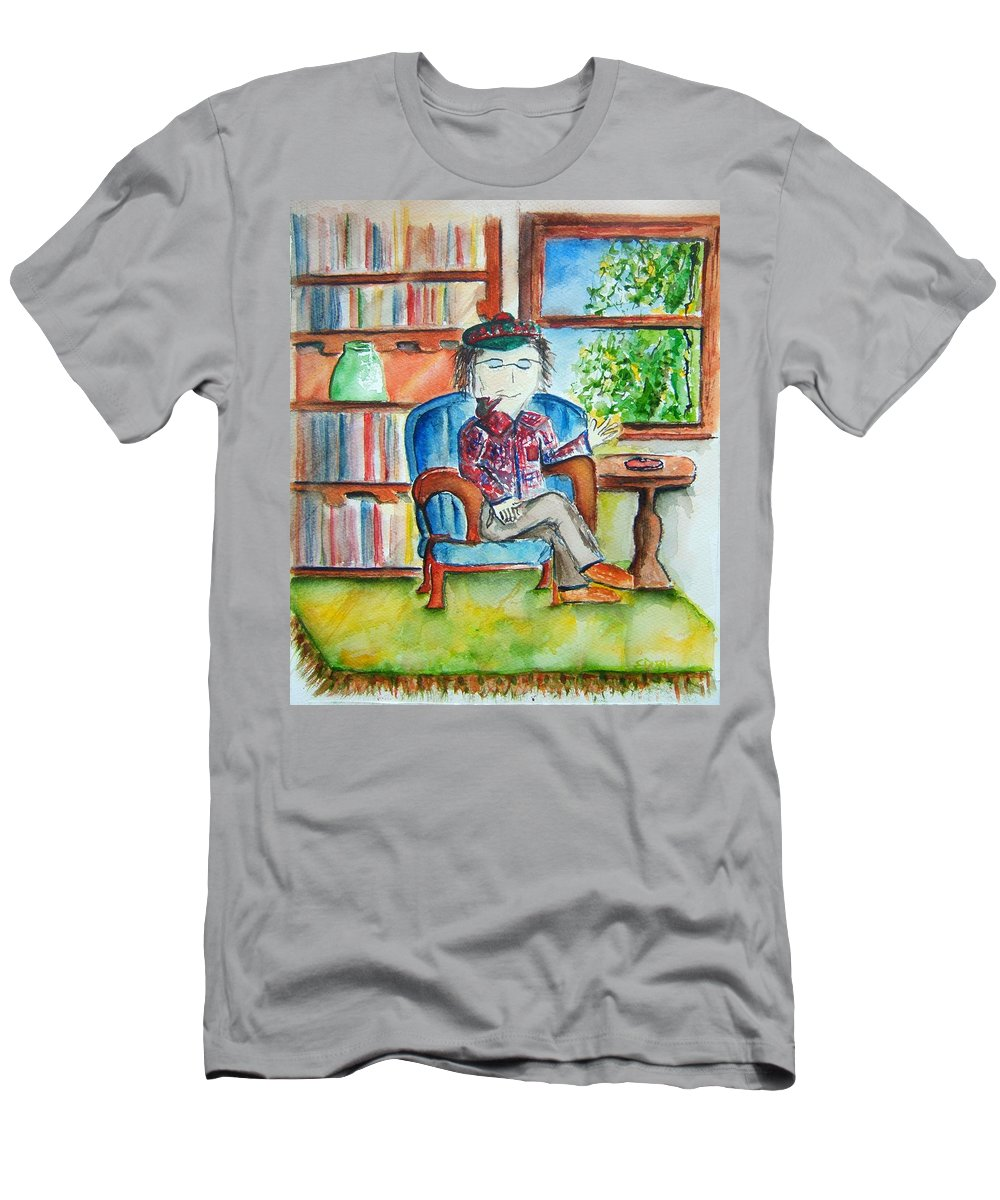 Storyteller Men's T-Shirt (Athletic Fit) featuring the painting The Storyteller by Elaine Duras