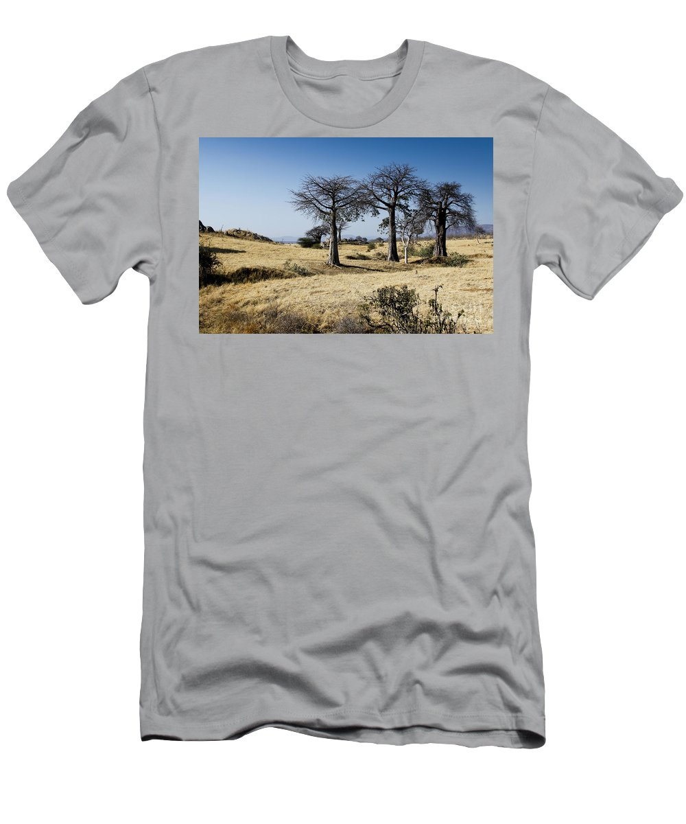 Trees Men's T-Shirt (Athletic Fit) featuring the photograph The Trees Of Ruaha by Christina Gupfinger