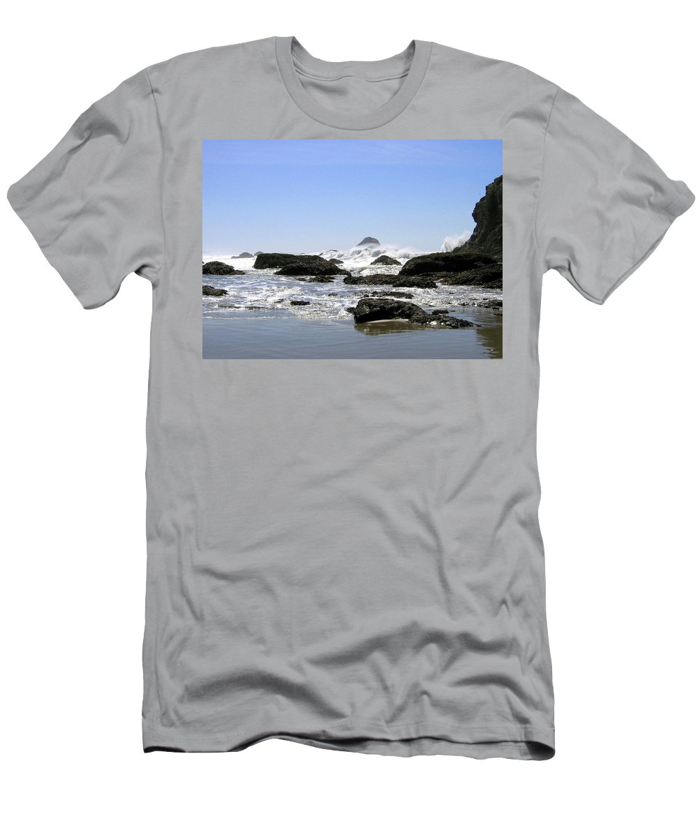 The Untamed Sea Men's T-Shirt (Athletic Fit) featuring the photograph The Untamed Sea by Will Borden