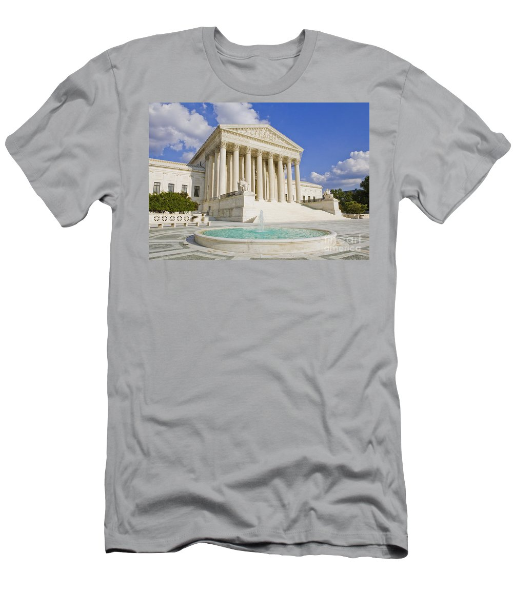 America Men's T-Shirt (Athletic Fit) featuring the photograph The Us Supreme Court Building by B Christopher