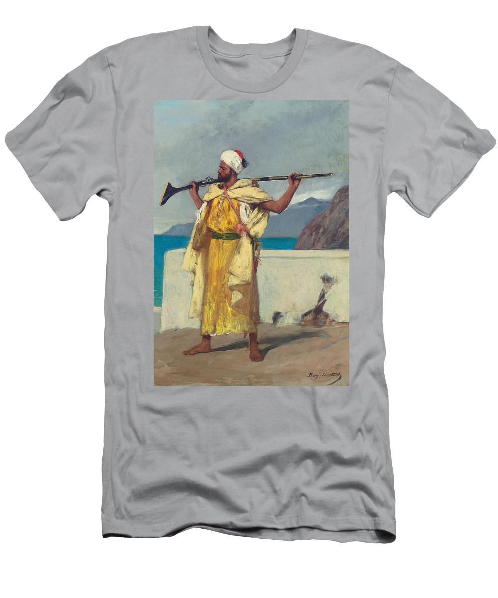 The Watchful Guard Men's T-Shirt (Athletic Fit) featuring the painting The Watchful Guard by Jean Joseph Benjamin Constant