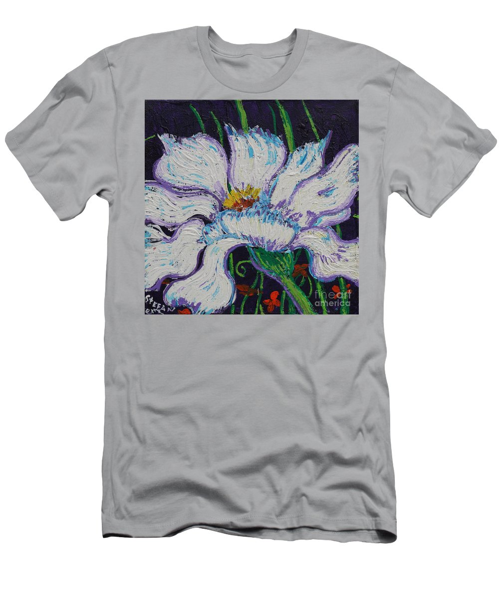 Impressionism Men's T-Shirt (Athletic Fit) featuring the painting The White Flower by Stefan Duncan