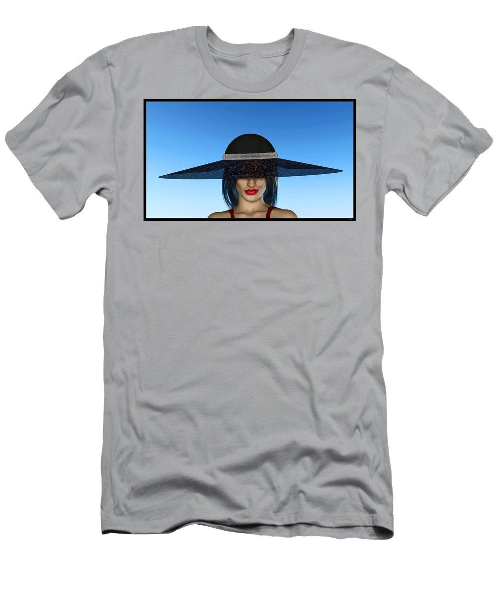Portrait Men's T-Shirt (Athletic Fit) featuring the digital art The Widow... by Tim Fillingim