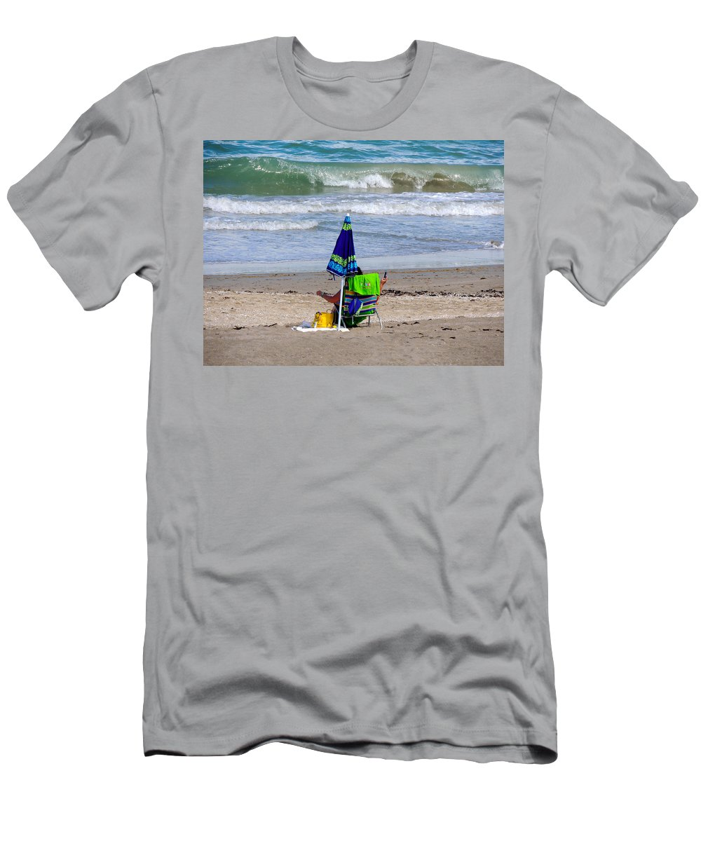 Beaches Men's T-Shirt (Athletic Fit) featuring the photograph This Is A Recording by Marilyn Holkham