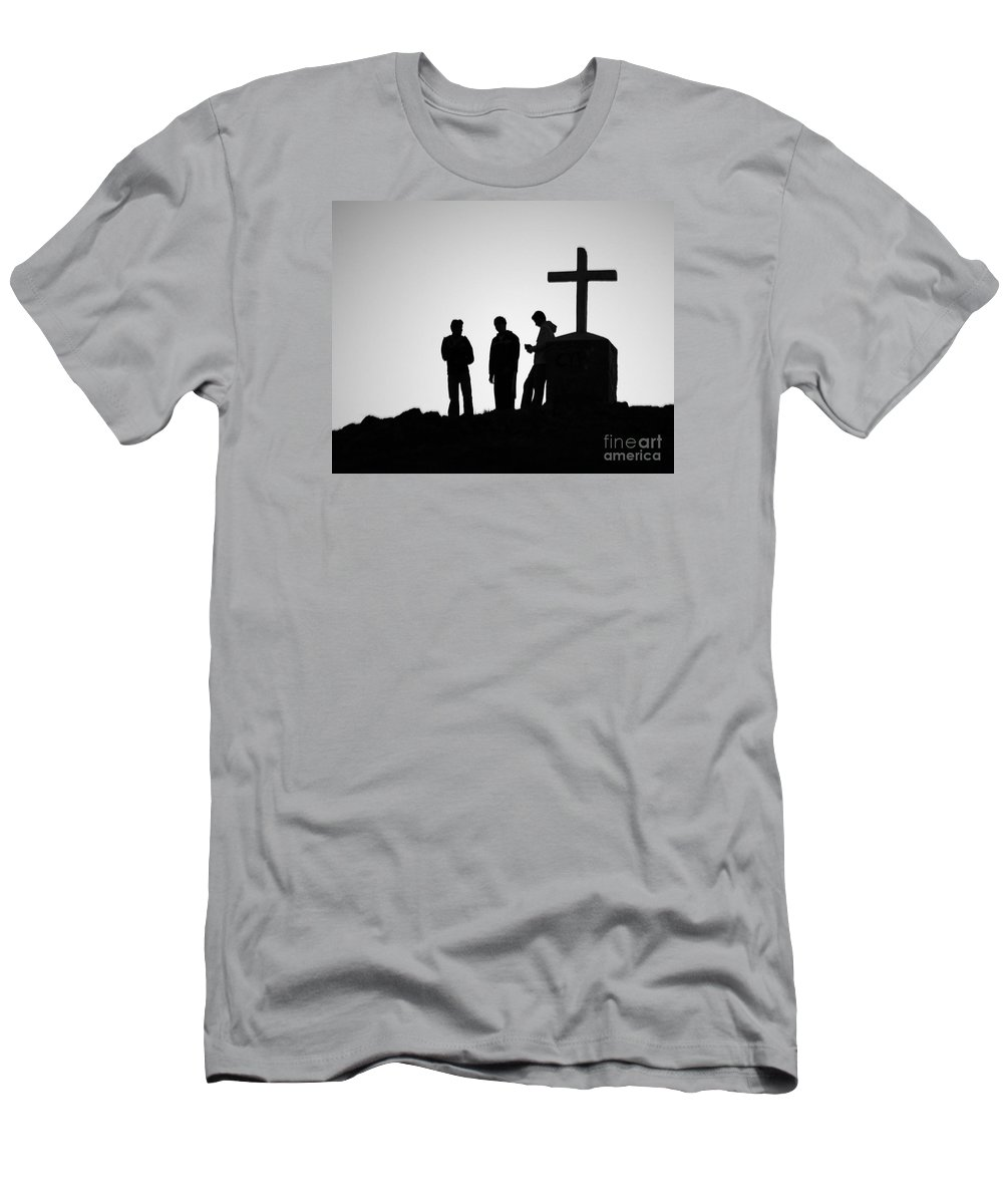 Mexico Men's T-Shirt (Athletic Fit) featuring the photograph Three At The Cross by PJ Boylan