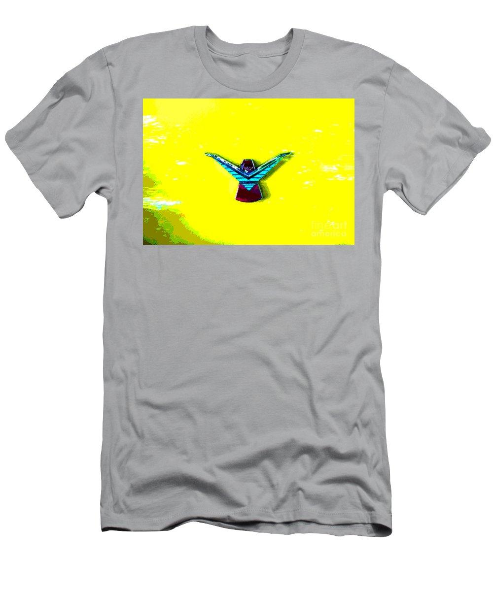 1958 Thunderbird Men's T-Shirt (Athletic Fit) featuring the digital art Thunderbird 1958 by Alys Caviness-Gober