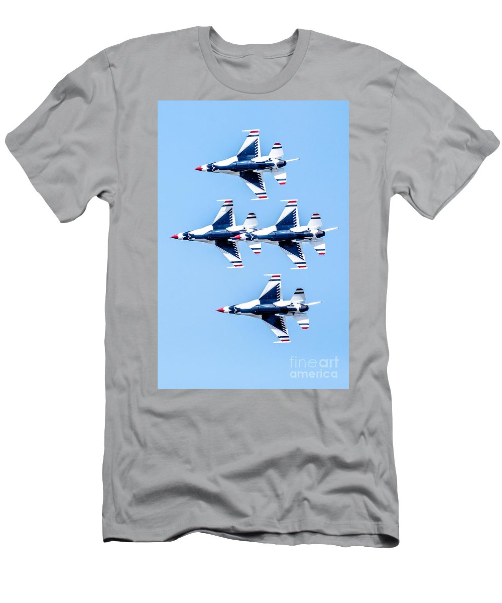 Thunderbirds Men's T-Shirt (Athletic Fit) featuring the photograph Thunderbirds  by Amel Dizdarevic