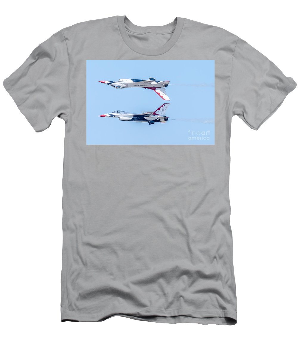 Thunderbirds Men's T-Shirt (Athletic Fit) featuring the photograph Thunderbirds In A Dangerous Formation by Amel Dizdarevic