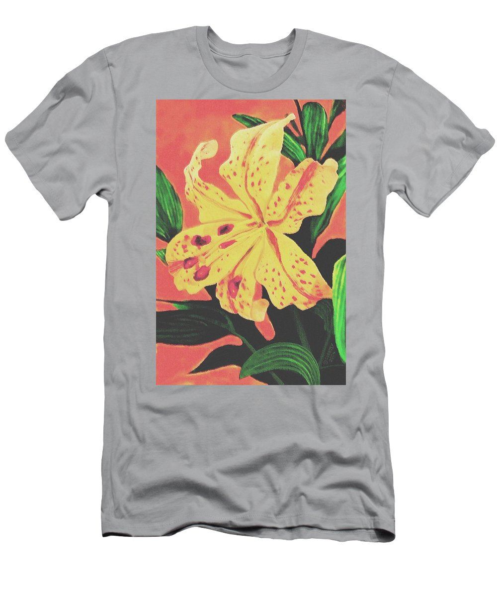 Floral Men's T-Shirt (Athletic Fit) featuring the painting Tiger Lily by Sophia Schmierer
