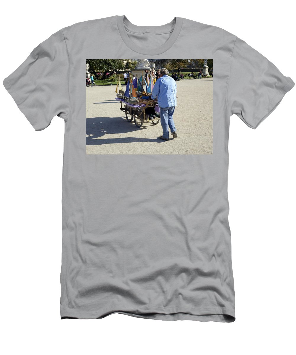 Paris Men's T-Shirt (Athletic Fit) featuring the photograph Time To Sail Away 1 by Richard Rosenshein