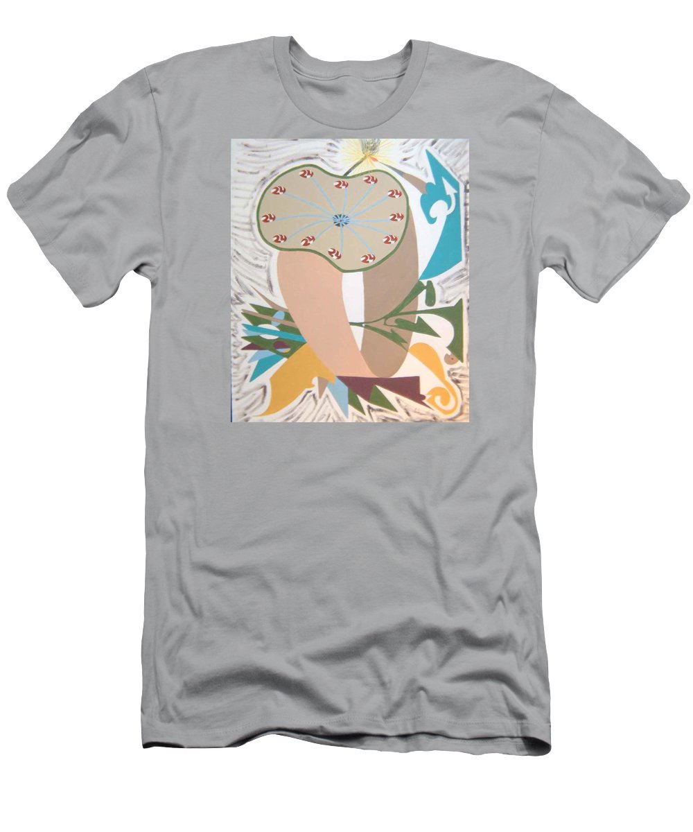 Abstract T-Shirt featuring the painting Times up by Dean Stephens