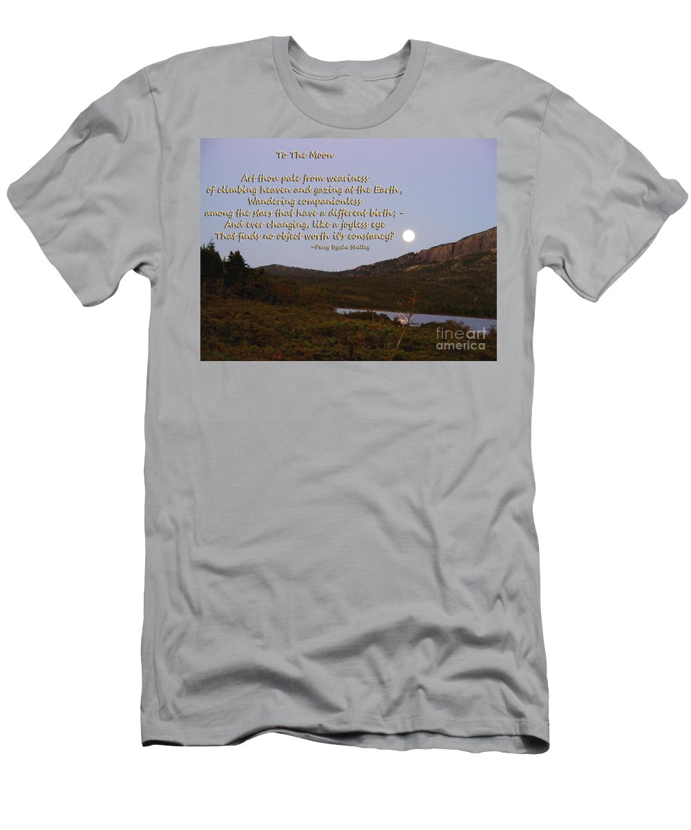 To The Moon Men's T-Shirt (Athletic Fit) featuring the photograph To The Full Moon by Barbara Griffin