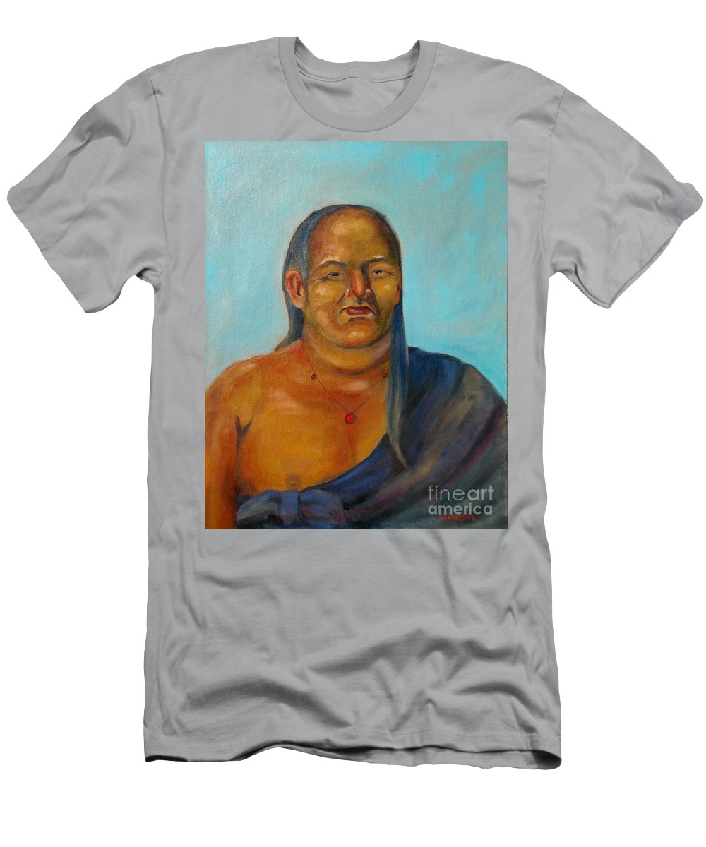 Men's T-Shirt (Athletic Fit) featuring the painting Tochtli by Lilibeth Andre