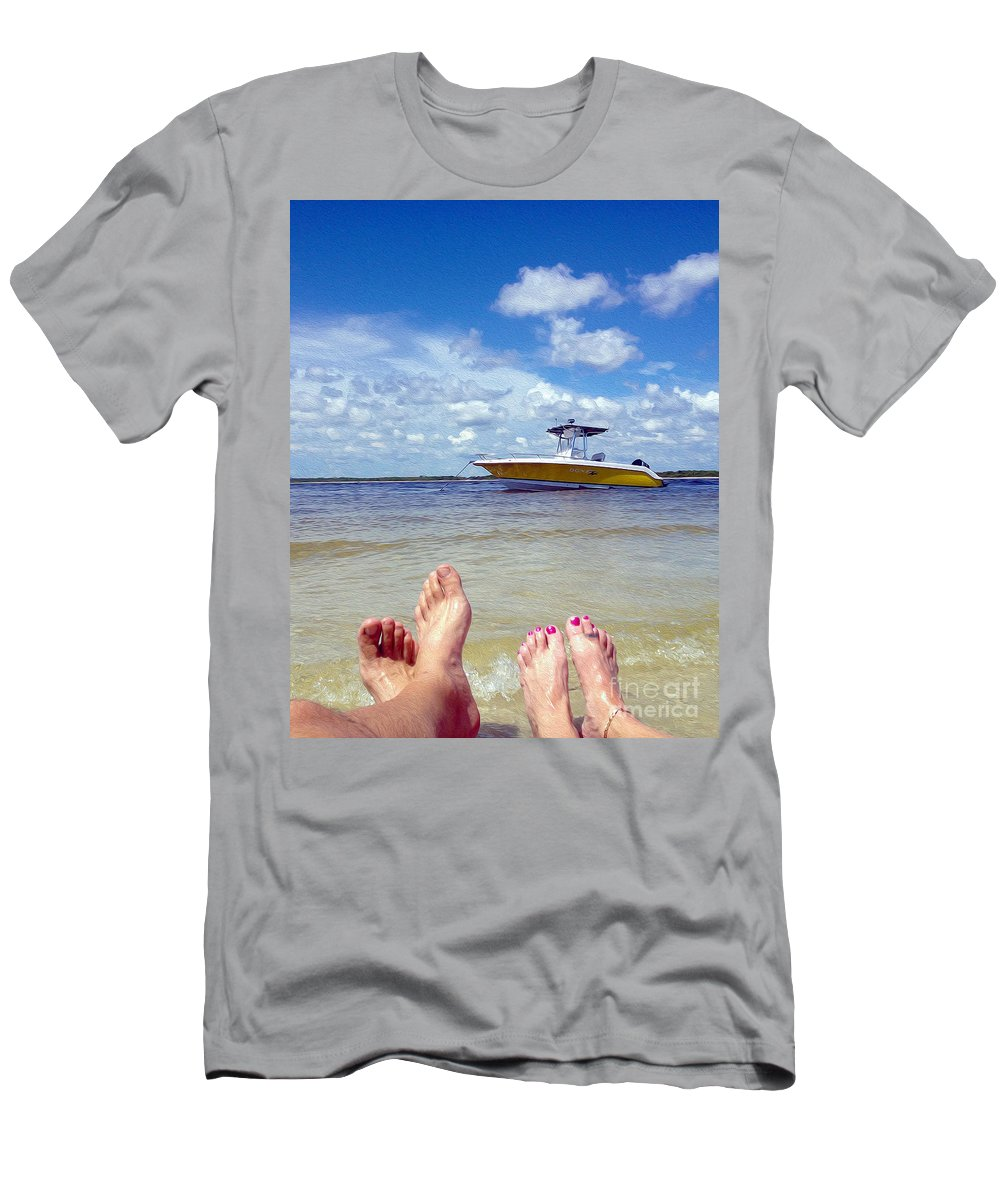 Fort Myers Beach Mixed Media T-Shirts
