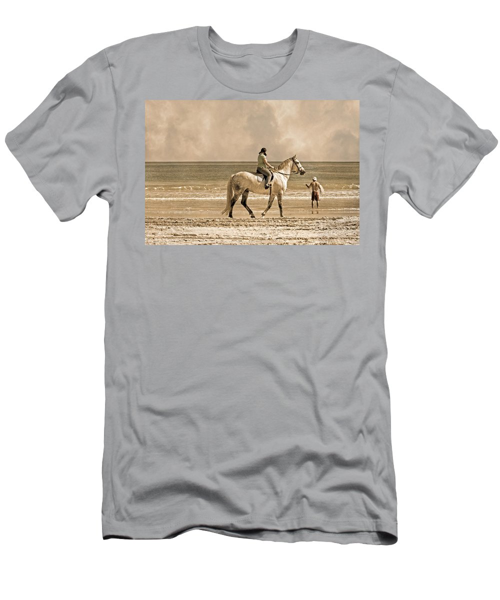 Horse Men's T-Shirt (Athletic Fit) featuring the photograph Together We Go by Betsy Knapp