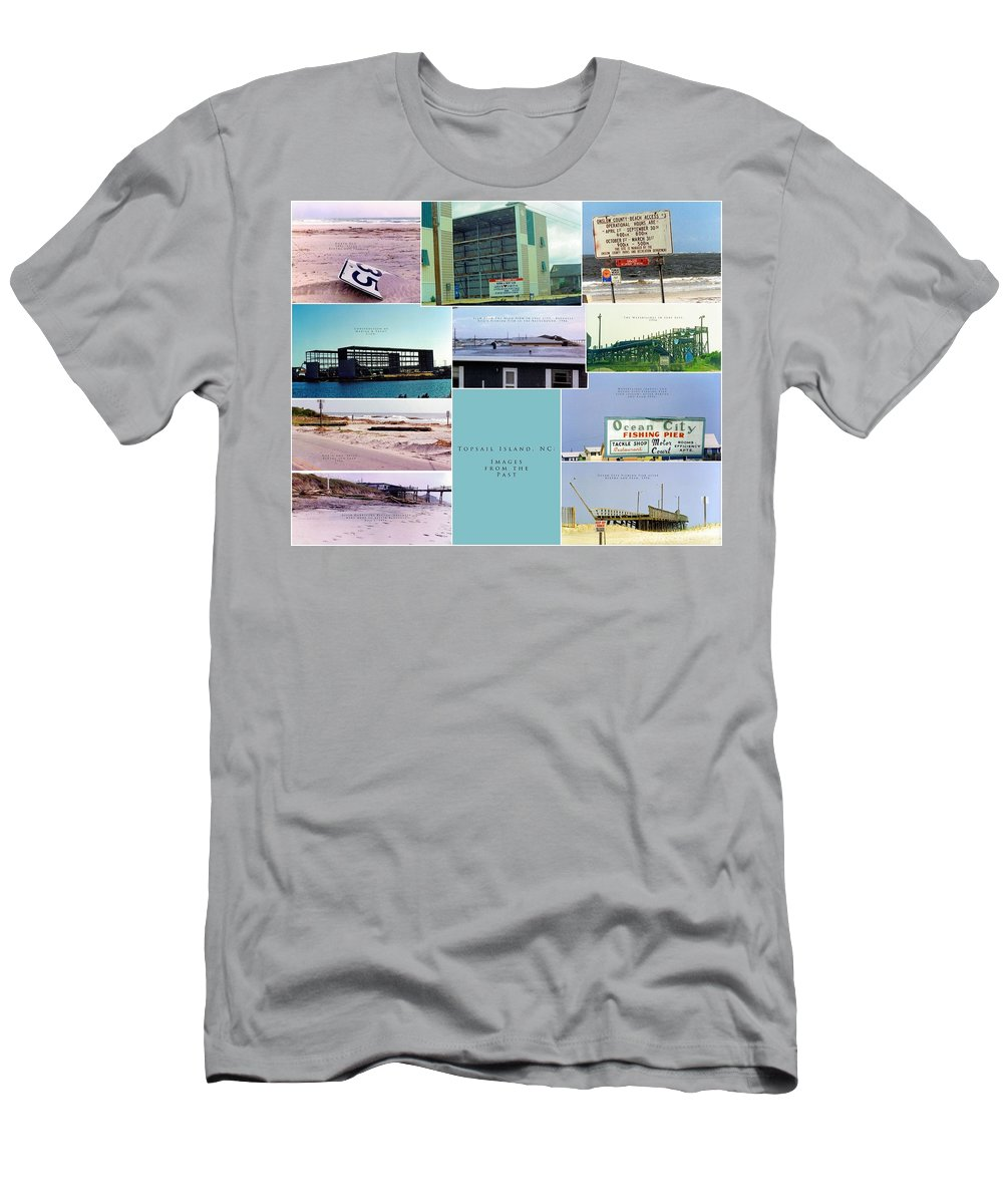 Topsail Men's T-Shirt (Athletic Fit) featuring the photograph Topsail Island Images From The Past by Betsy Knapp
