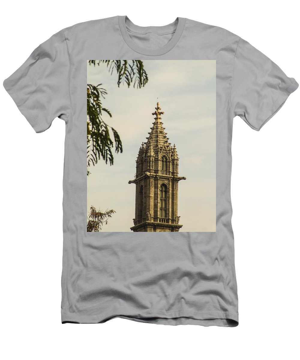 Religion Men's T-Shirt (Athletic Fit) featuring the photograph Tower To Heaven by Eric Swan