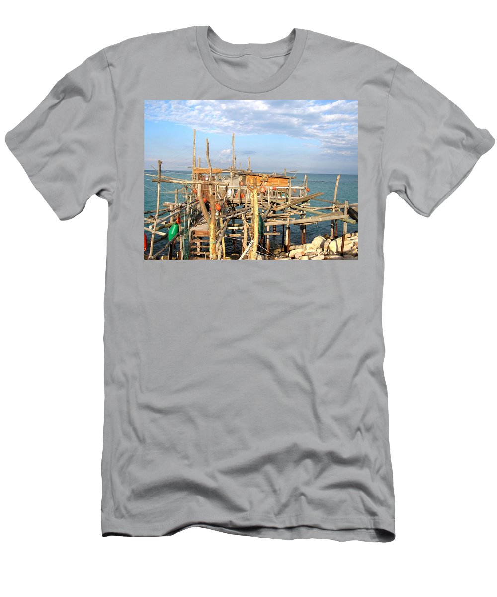 Trabocco Men's T-Shirt (Athletic Fit) featuring the photograph Trabocco 2 by Marcello Cicchini