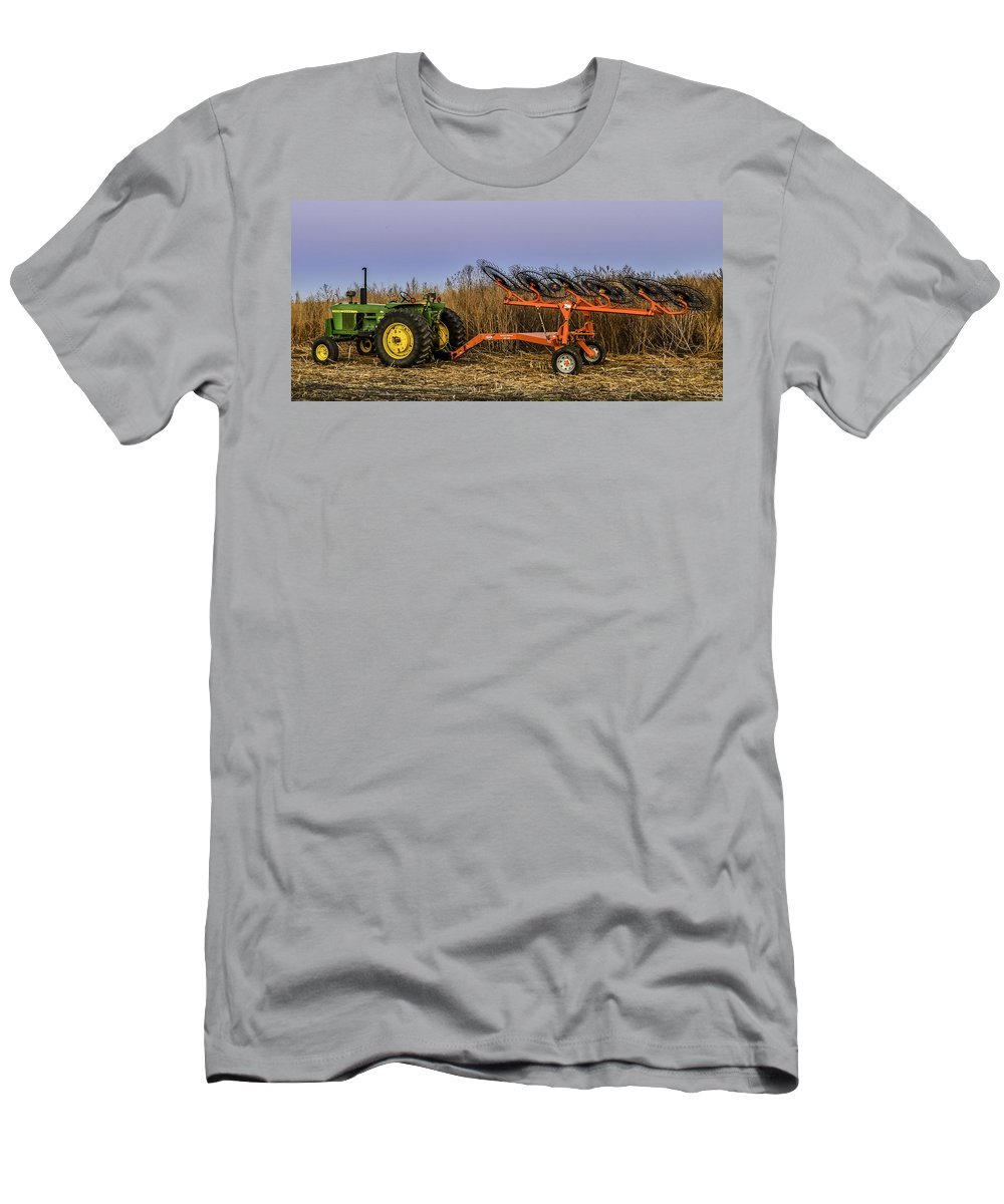 Tractor Men's T-Shirt (Athletic Fit) featuring the photograph Tractor by Gary Mosman