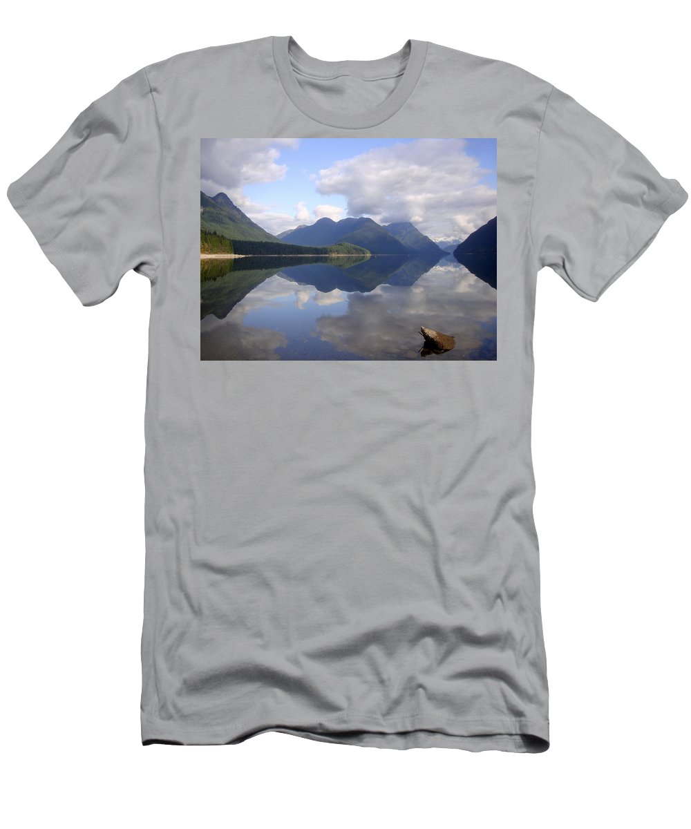 Tranquility Men's T-Shirt (Athletic Fit) featuring the photograph Tranquility Alouette Lake - Golden Ears Prov. Park, British Columbia by Ian Mcadie