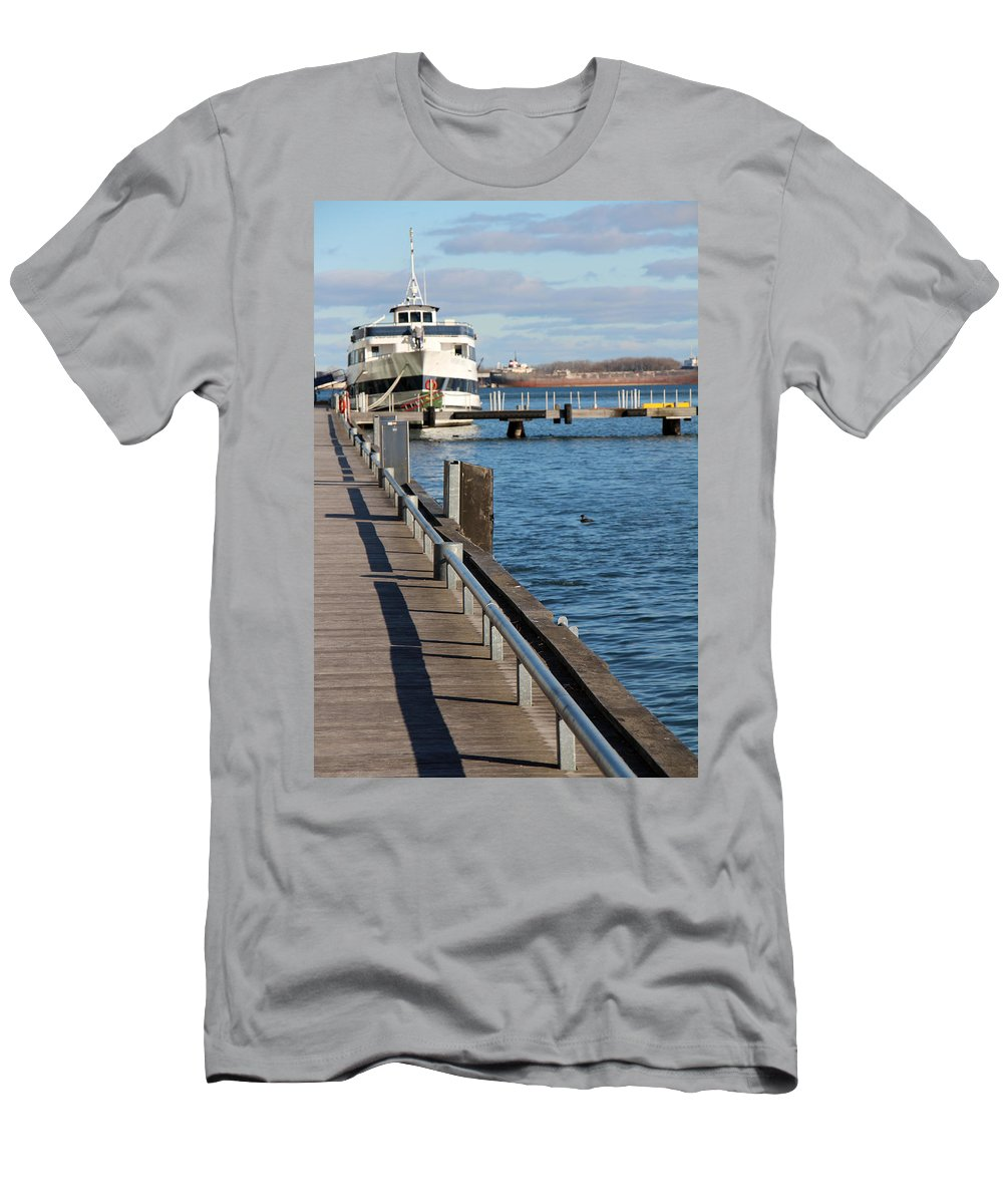 Toronto Men's T-Shirt (Athletic Fit) featuring the photograph Travel Into Past by Munir Alawi