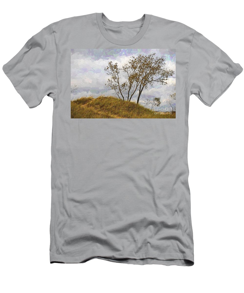 Beach Men's T-Shirt (Athletic Fit) featuring the photograph Trees Of The Beach by David Arment