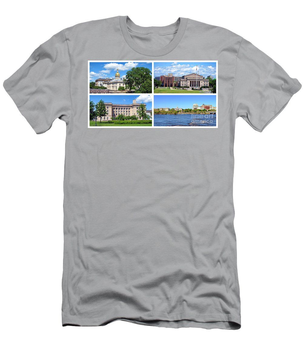 Trenton Men's T-Shirt (Athletic Fit) featuring the photograph Trenton New Jersey by Olivier Le Queinec