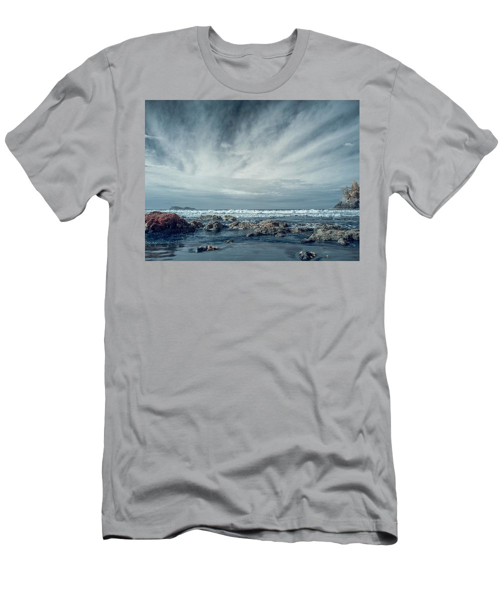 Infrared Men's T-Shirt (Athletic Fit) featuring the photograph Trinidad State Beach In Infrared by Greg Nyquist