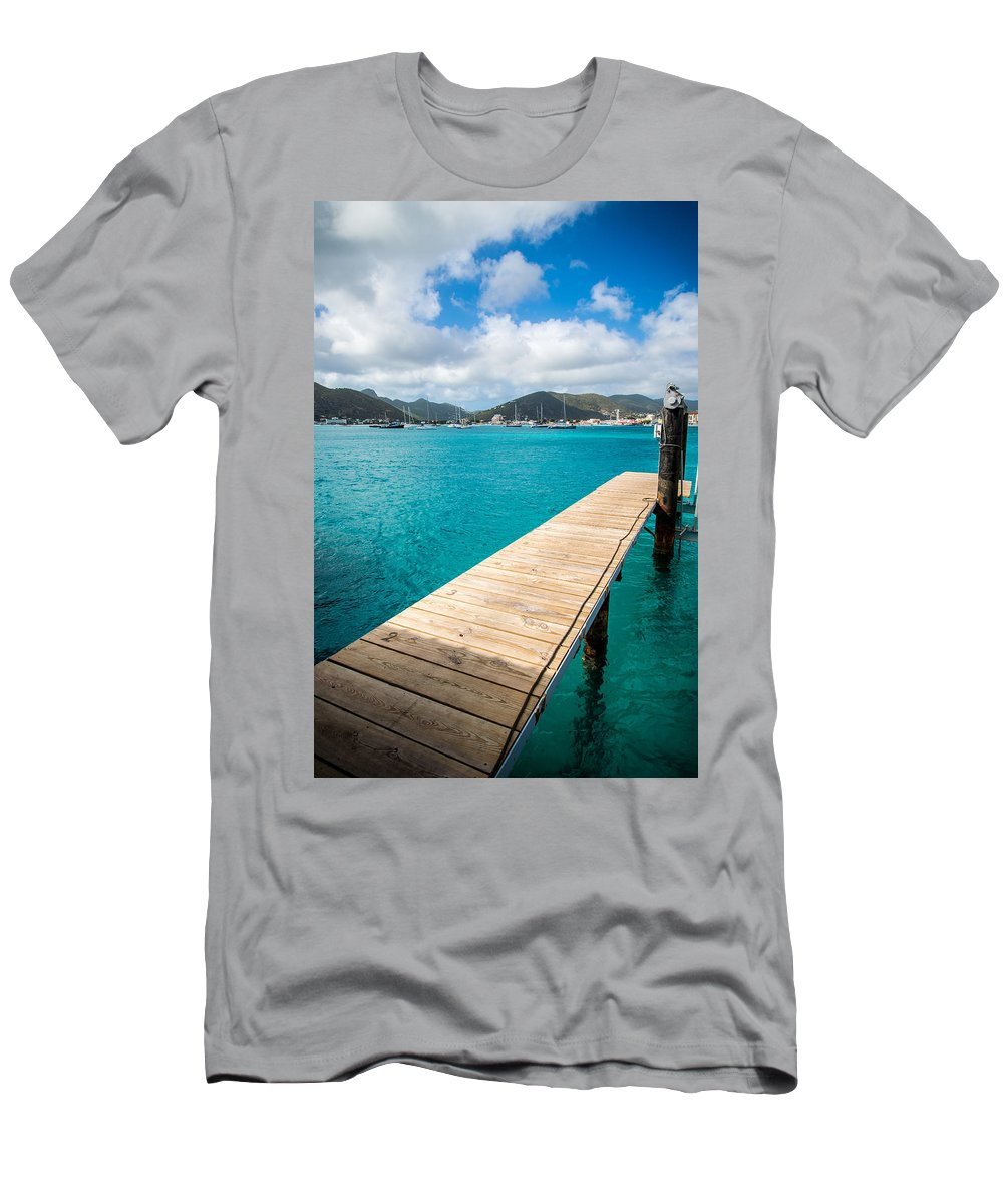 St. Maarten Men's T-Shirt (Athletic Fit) featuring the photograph Tropical Harbor by Kristopher Schoenleber