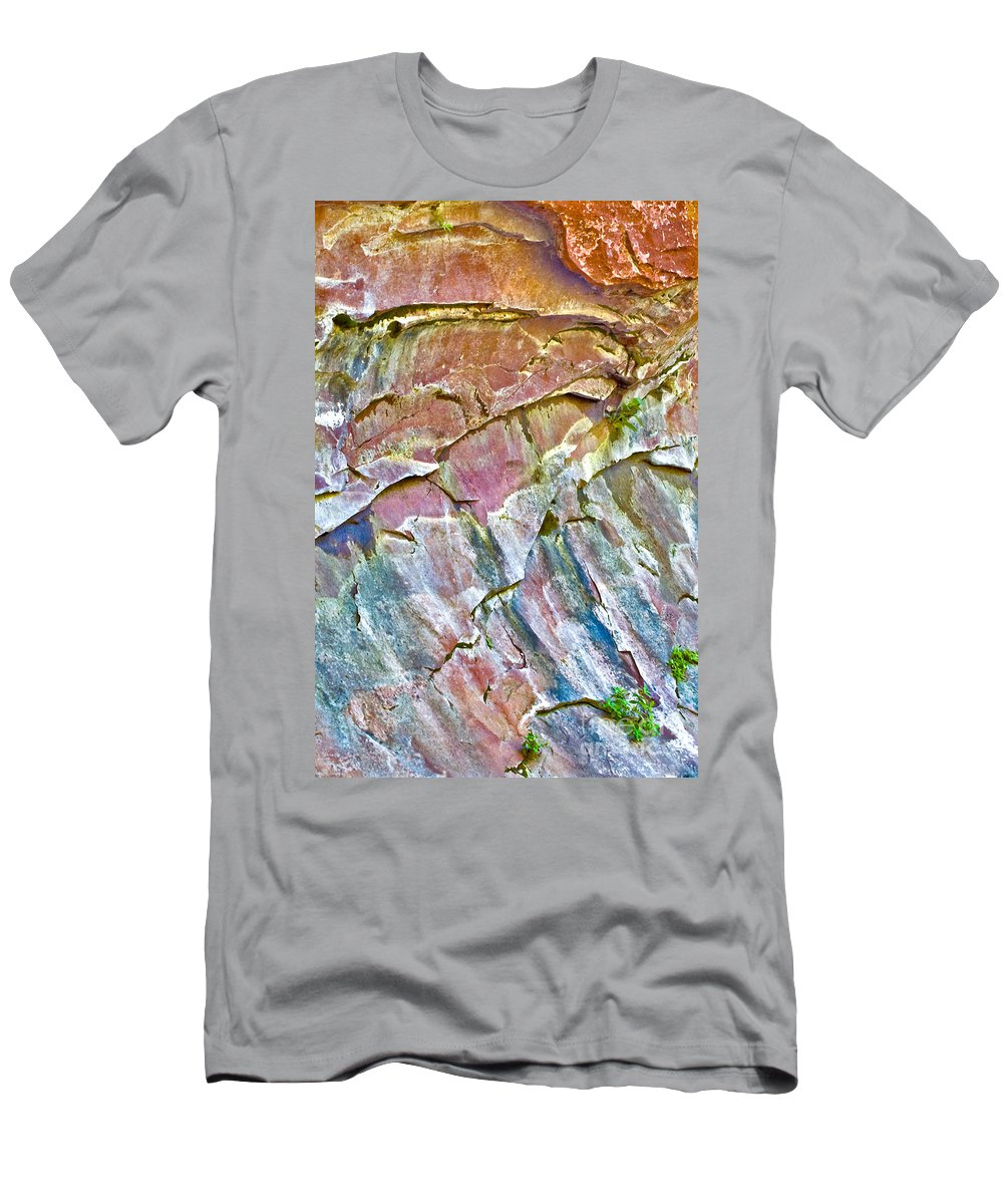 Trumpet Abstract Is Naturally Created. Trumpet Abstract Is A Photograph Of A Wall Men's T-Shirt (Athletic Fit) featuring the photograph Trumpet Abstract by Mae Wertz