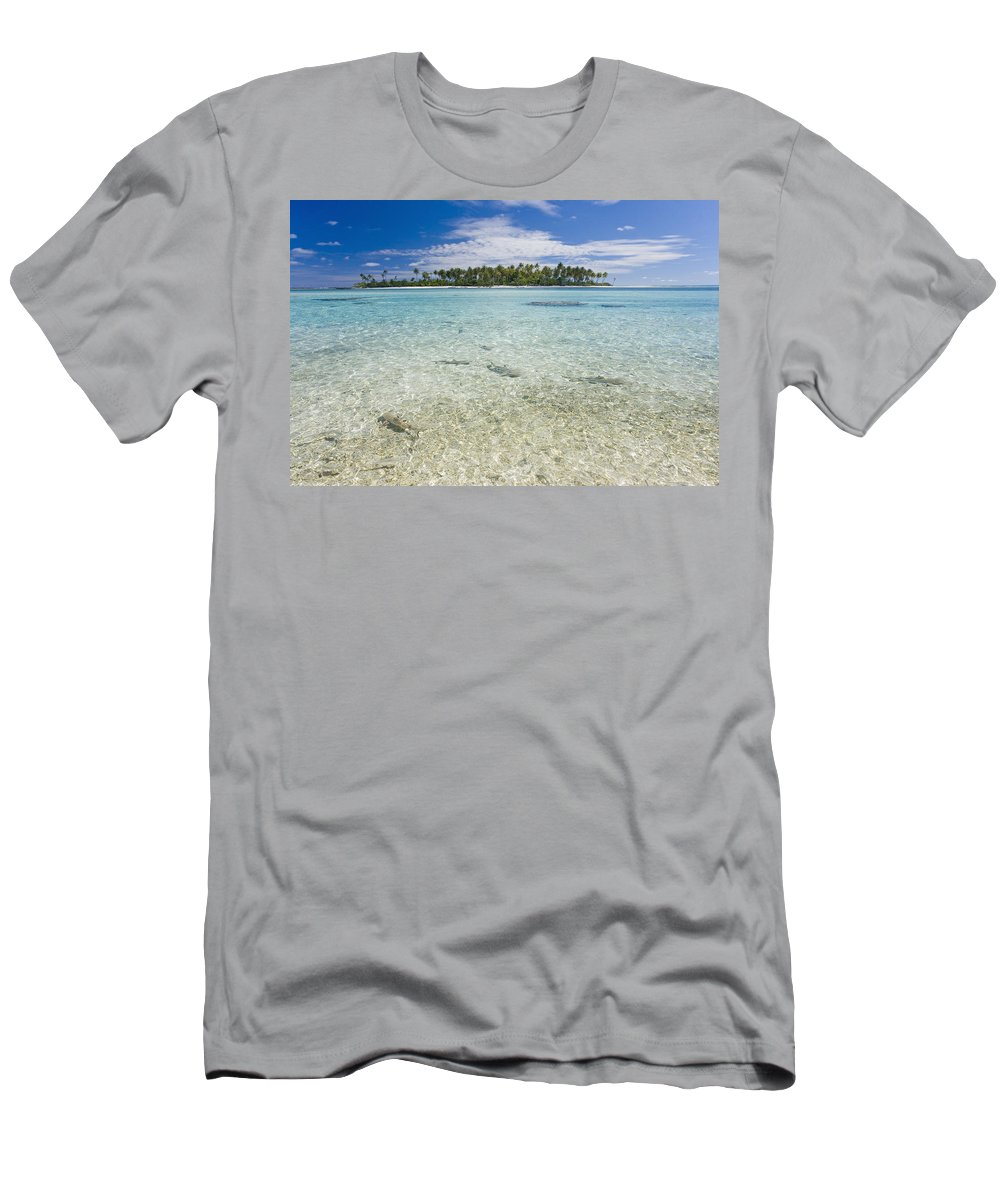 Adrenaline Men's T-Shirt (Athletic Fit) featuring the photograph Tuamatu Islands by M Swiet Productions